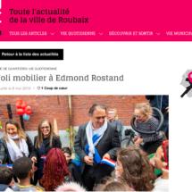 École Edmond Rostand, article ROUBAIXXL