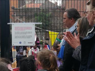 Aménagement du sas d'entrée de l'École Edmond Rostand de Roubaix