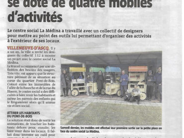 Inauguration officielle des Structures d'Échanges Mobiles à la Médina, Villeneuve d'Ascq